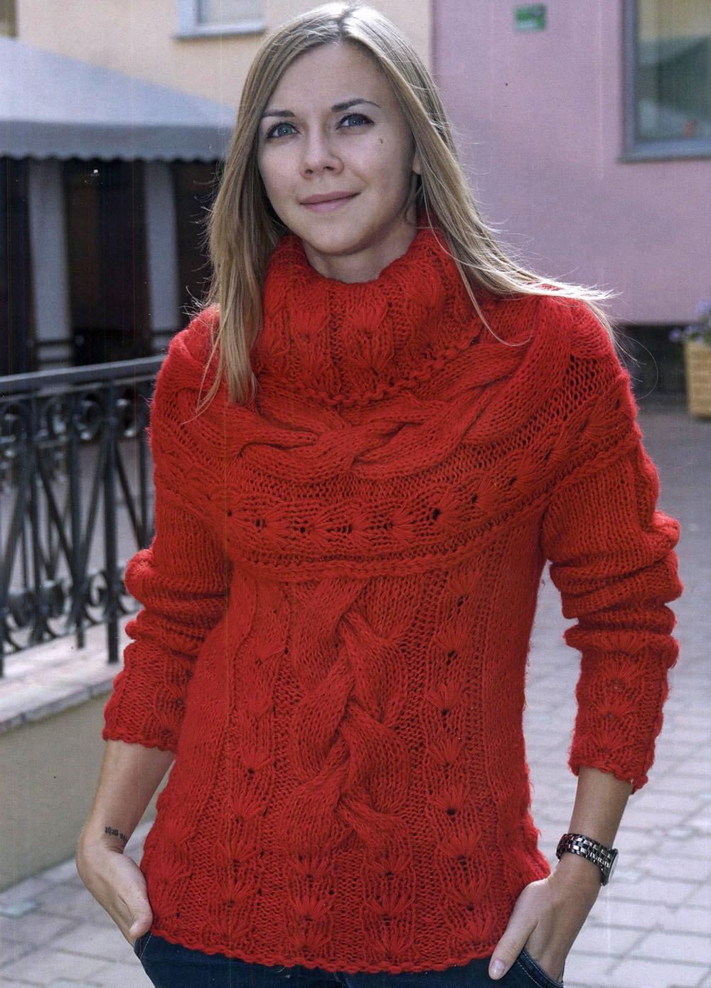 Вязаные свитера спицами женские схемы, описание и видео 92