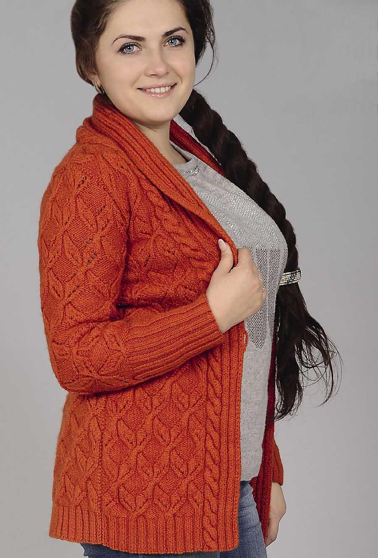 Free Knitting Patterns - Shawl Collar Cardigan