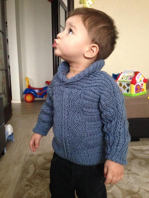Brioche Stitch Baby Sweater