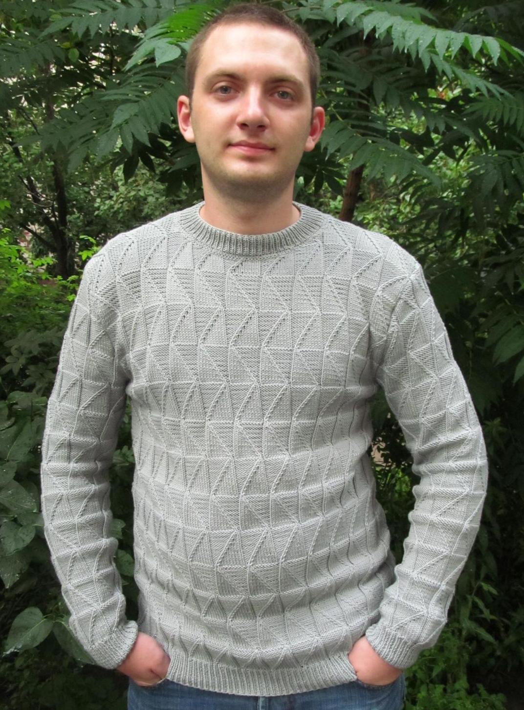Free Knitting Patterns - Men\'s Sweater in Fancy Pattern
