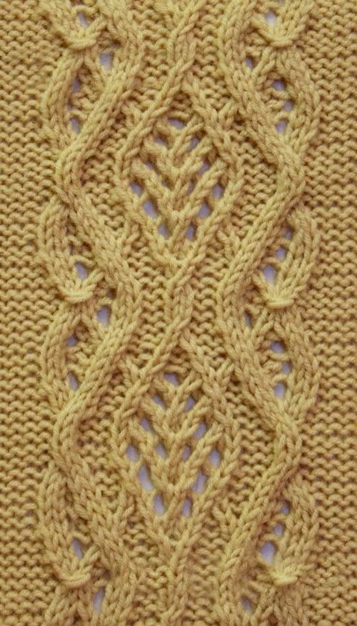 Free Knitting Patterns Lace Cable Stitch Pattern