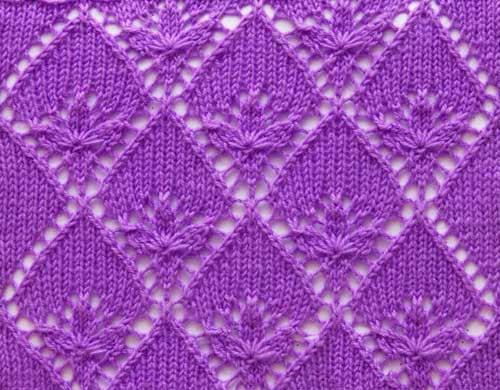 Knitting Lace Design : Free knitting patterns lace knit stitch pattern