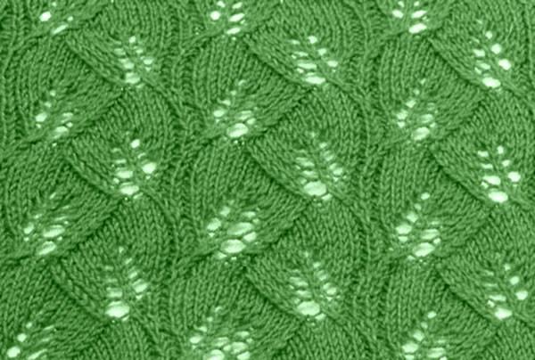 Free Knitting Patterns Leaf Lace Knit Stitch