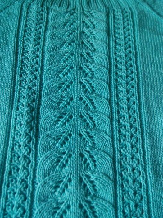 Free Knitting Patterns Leaf Lace Knit Stitch Pattern