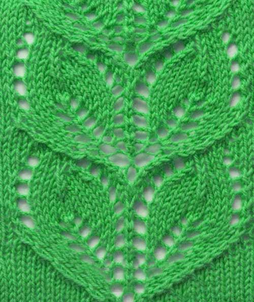 Free Knitting Patterns Leaves Knitting Stitch Pattern