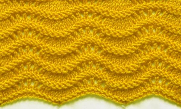 Free Knitting Patterns Wavy Knit Stitch