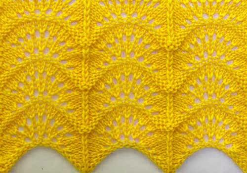 Free Knitting Patterns Wavy Knitting Stitch Pattern