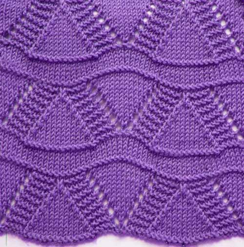Free Knitting Patterns - Wavy Knit Stitch Pattern