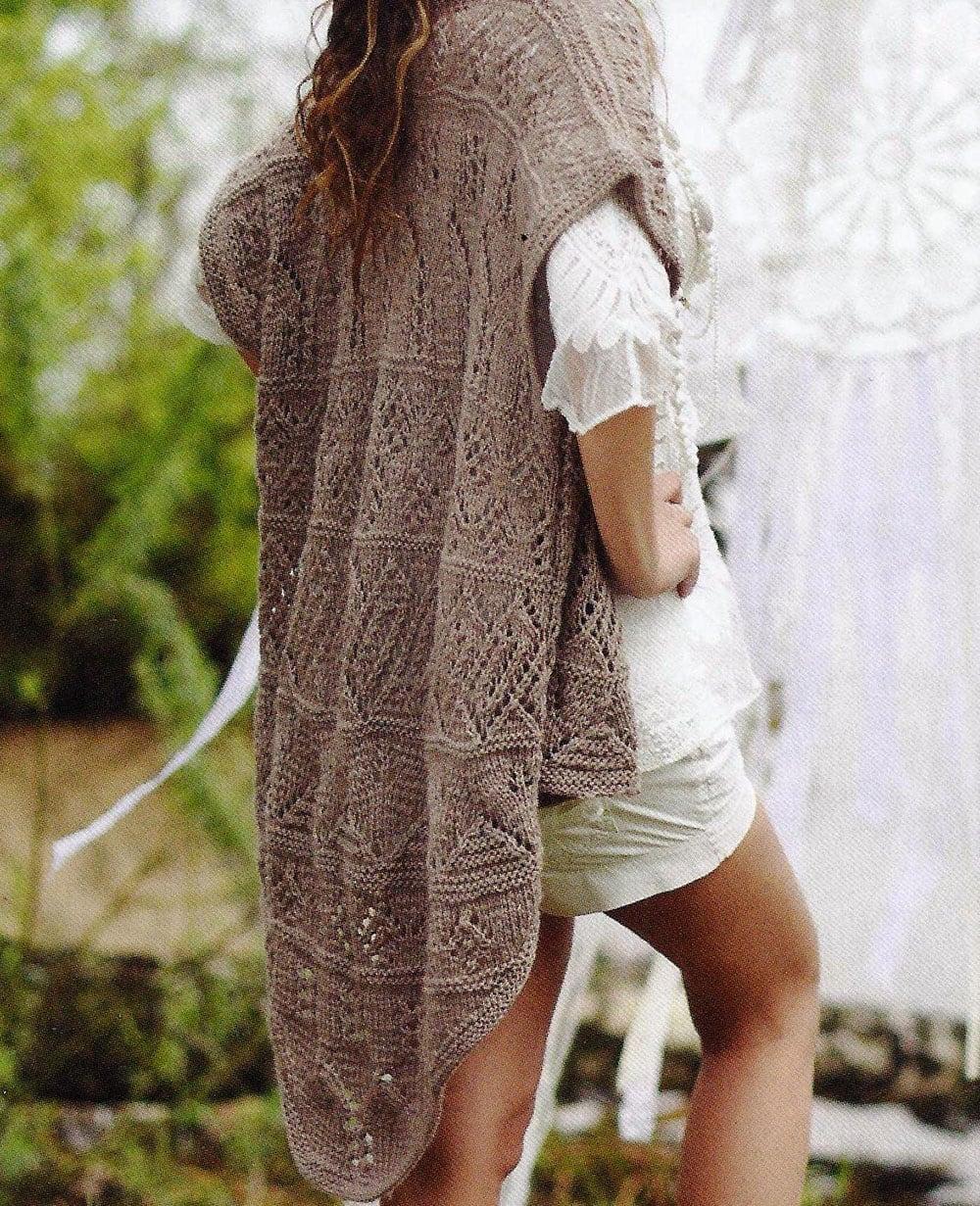 Free Knitting Patterns - Lace Mix Pattern Vest