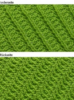 Diagonal Knit Pattern