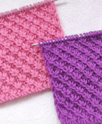 Diagonal Star Knitting Pattern
