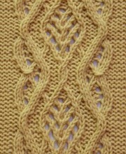 Lace Cable Stitch Pattern