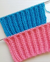 Relief Rib Stitch Knitting Pattern