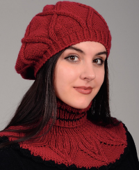 Beret and Dicky in Textured Pattern