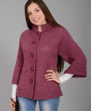 Raglan Jacket in Stockinette Stitch