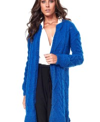 Long Cardigan in Fancy Pattern