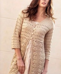 Cardigan with Lace Pattern