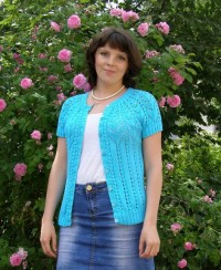 Cardigan with Round Yoke
