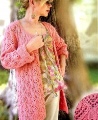 Cardigan in Lace Pattern