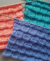 Checkerboard Knit Stitch
