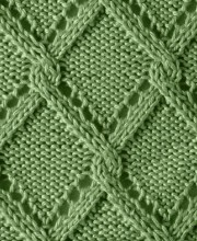 Diamond Cable Knit Stitich Pattern