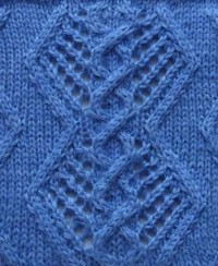 Diamоnd Cable Knit Stitich Pattern