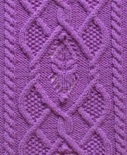 Dimond Cable Knit Stitch Pattern