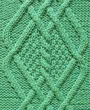 Diamond Cable Knit Pattern