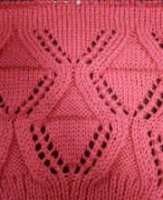 Diamond Lace Knitt Pattern