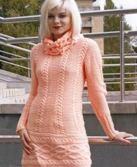 Dress in Textured Pattern