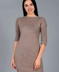 Dress with Yoke in Fancy Pattern