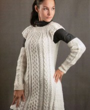 Dress and Arm Warmers in Textured Pattern