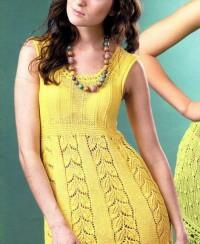 Dress with Leaf Pattern