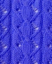Lace and Cable Knitting Stitch