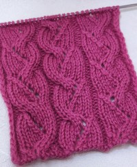 Lace Eyelet Stripe Knit Pattern