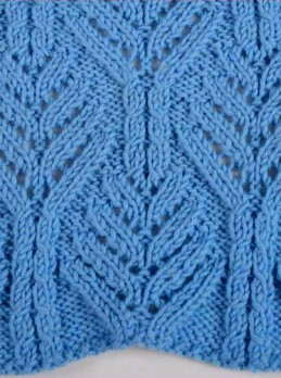 Fancy Leaf Knit Stitch Pattern