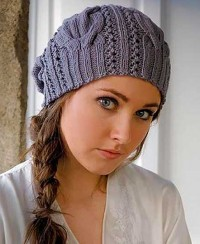 Hat in Fancy Pattern with Cables