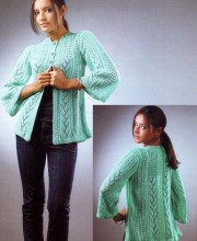 Turquoise Pattern-Mix Cardigan