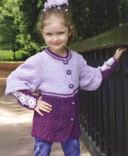 Flower motif cardigan for girl