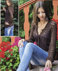 Jacket in Lace Pattern