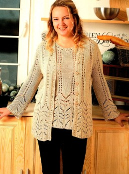 Knitset: Jacket and Top in Lace Patterns