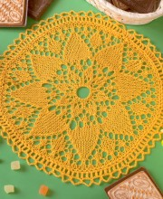 Yellow Knitted Napkin