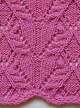 Lace Cable Knit Stitch Pattern