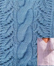 Leaf Cable Knit Stitch Pattern