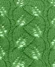 Leaf Lace Knit Stitch