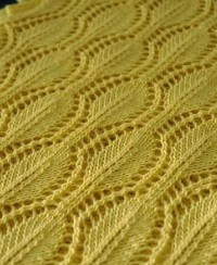 Leaf Lace Knit Stitch Pattern