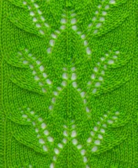 Leaf Knit Stitch Pattern