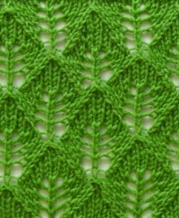 Leaf Knitting Stitch Pattern