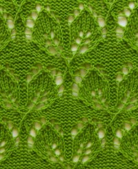 Leaves Knit Pattern
