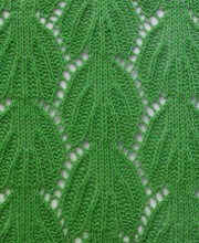 Leaves Knit Stitch Pattern